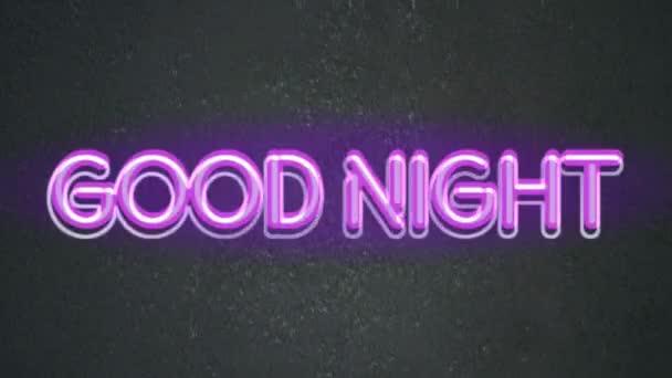 Gute Nacht Animationstext Neon