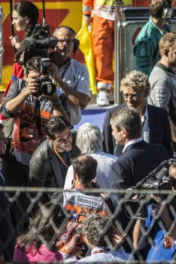 Hermann Tilke, Bernie Ecclestone. Before the start of the first