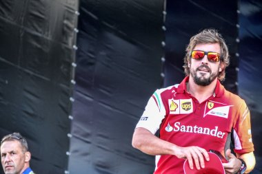 Fernando Alonso at the autograph session.