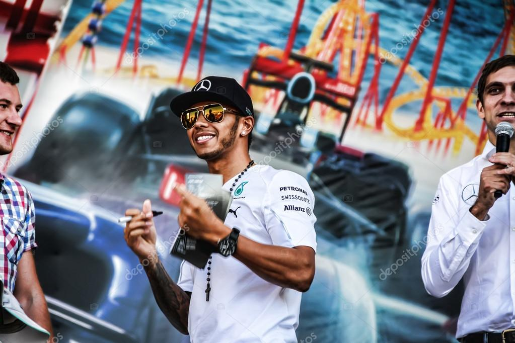 Formula One, Russian Grand Prix.  Lewis Hamilton.