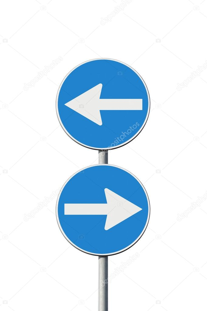 Indecision - concept image whit road signs