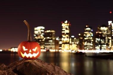 Scary pumpkin on Halloween
