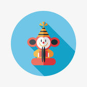 Monkey hračka ploché ikony s dlouhý stín, eps10