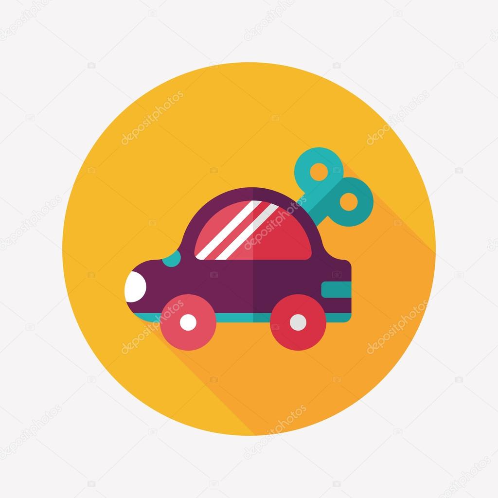 Toy Car Flat Icon With Long Shadow Stock Vector C Eatcute 53506543