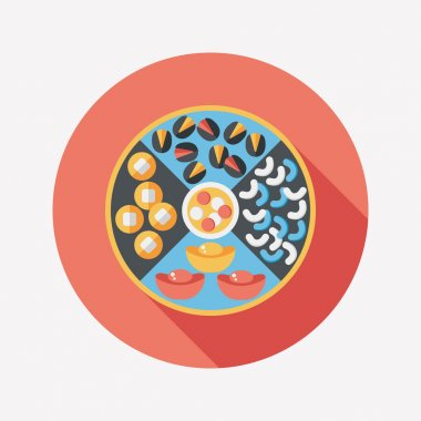 Chinese New Year flat icon with long shadow,eps10, Chinese desse