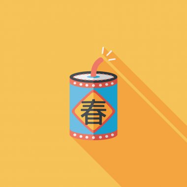 Chinese New Year flat icon, eps10, word Fu, Chinese festival cou