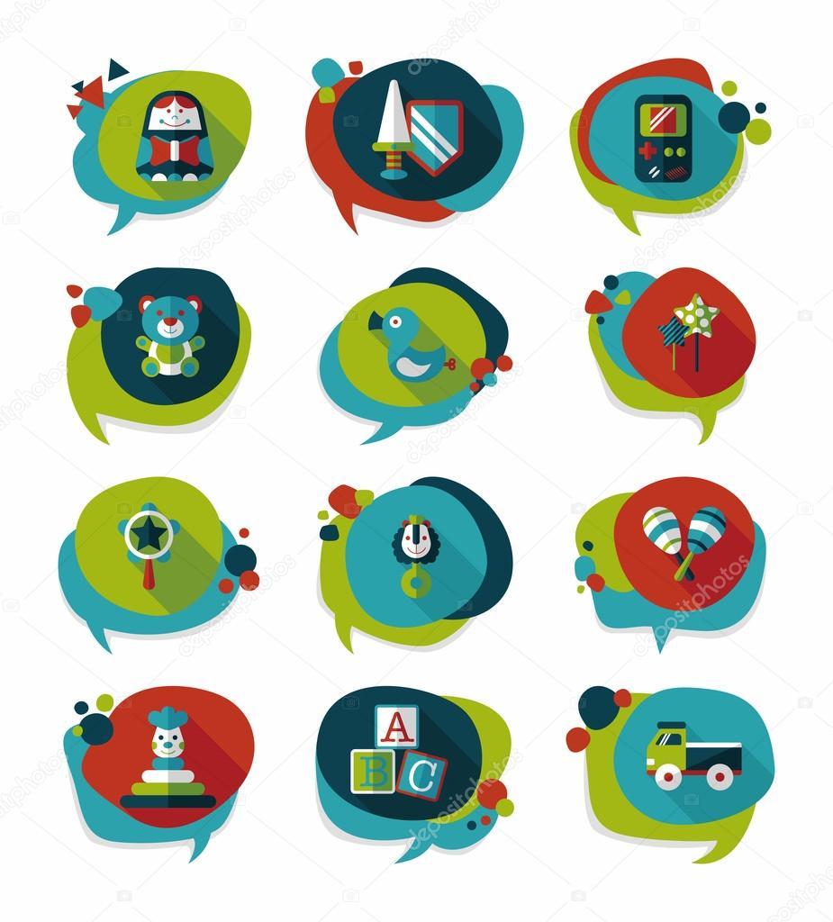 Text Bubble Toys For Tots : Brinquedo discurso bolha bandeira projeto fundo plano