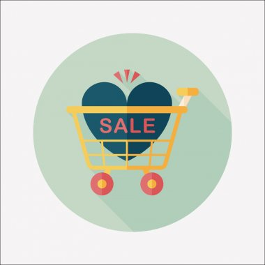 Valentine's Day SALE flat icon with long shadow,eps10