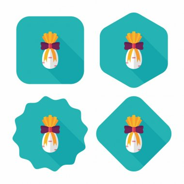 Chinese New Year gifts flat icon with long shadow,eps10