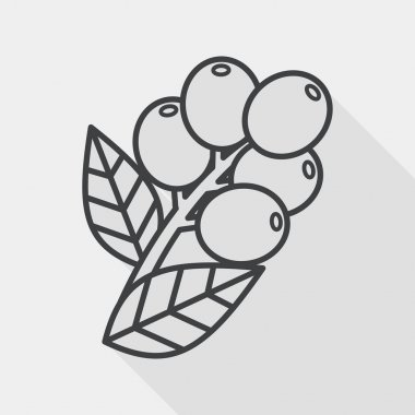 coffee fruit flat icon with long shadow,eps10
