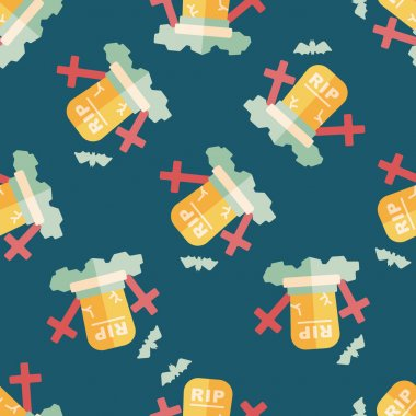 grave flat icon,eps10 seamless pattern background