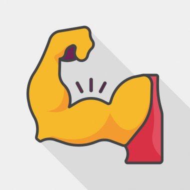 muscle man flat icon with long shadow,eps10