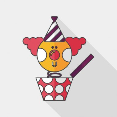Jack in the box flat icon with long shadow,eps10