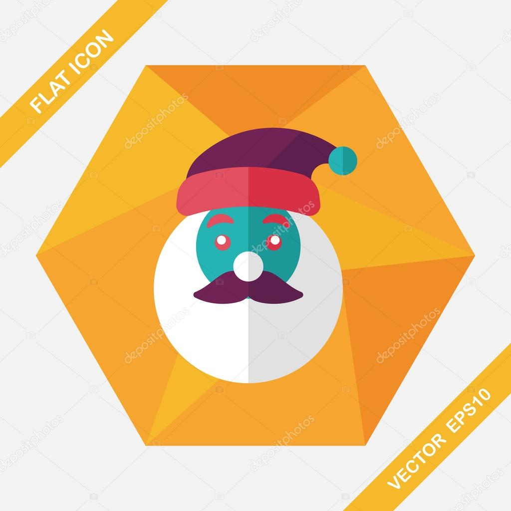 d1949684d0c Santa Claus flat icon with long shadow eps10 — Stock Vector ...