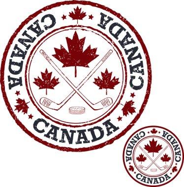 Canadian hockey stamp.