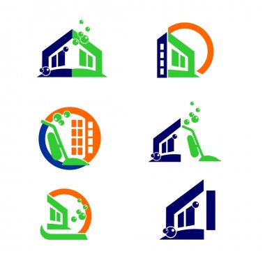 Commercial Home Cleaning Logo and Apps Icon