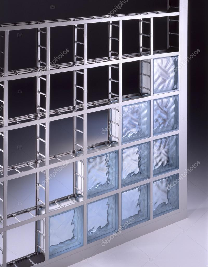 Pared de bloques de vidrio foto de stock oscaro 99827644 - Como colocar ladrillos de vidrio ...