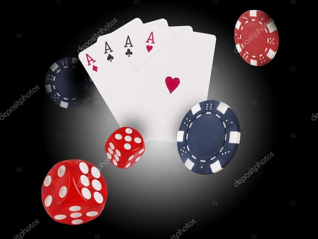 Playing Cards Flying At The Poker Table Stock Photo 45arseiy