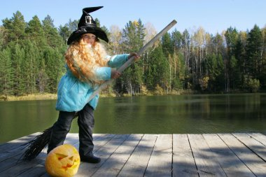 Halloween. National holidays and traditions. Fairy tale. Funny kids.