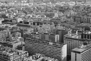 black and white photo of the top view beautiful Parisian sleepin