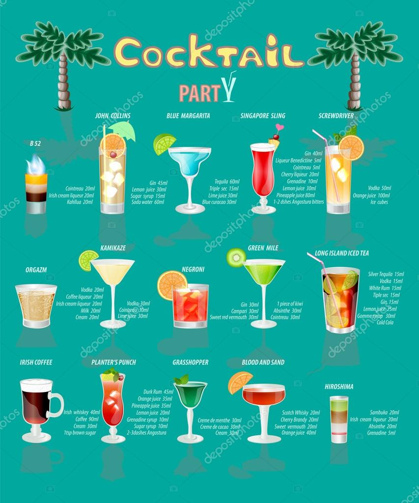 Cocktail Menu Template Free Download Bankruptcy Analyst Sample  Depositphotos 121432946 Stock Illustration Cocktail Menuwhich Consists Of  Cocktail Menu Template Free Download