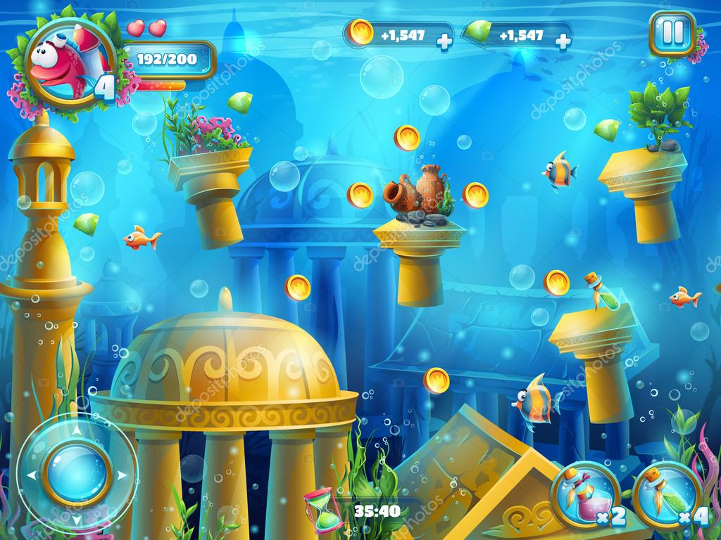 Atlantis ruins playing field