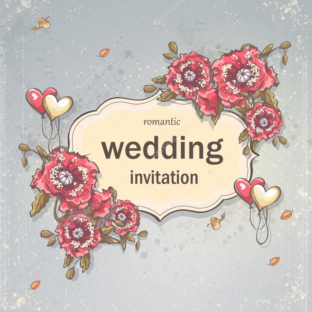 Festliche Hochzeit Hintergrundbild Fur Ihren Text Mit Mohn Und