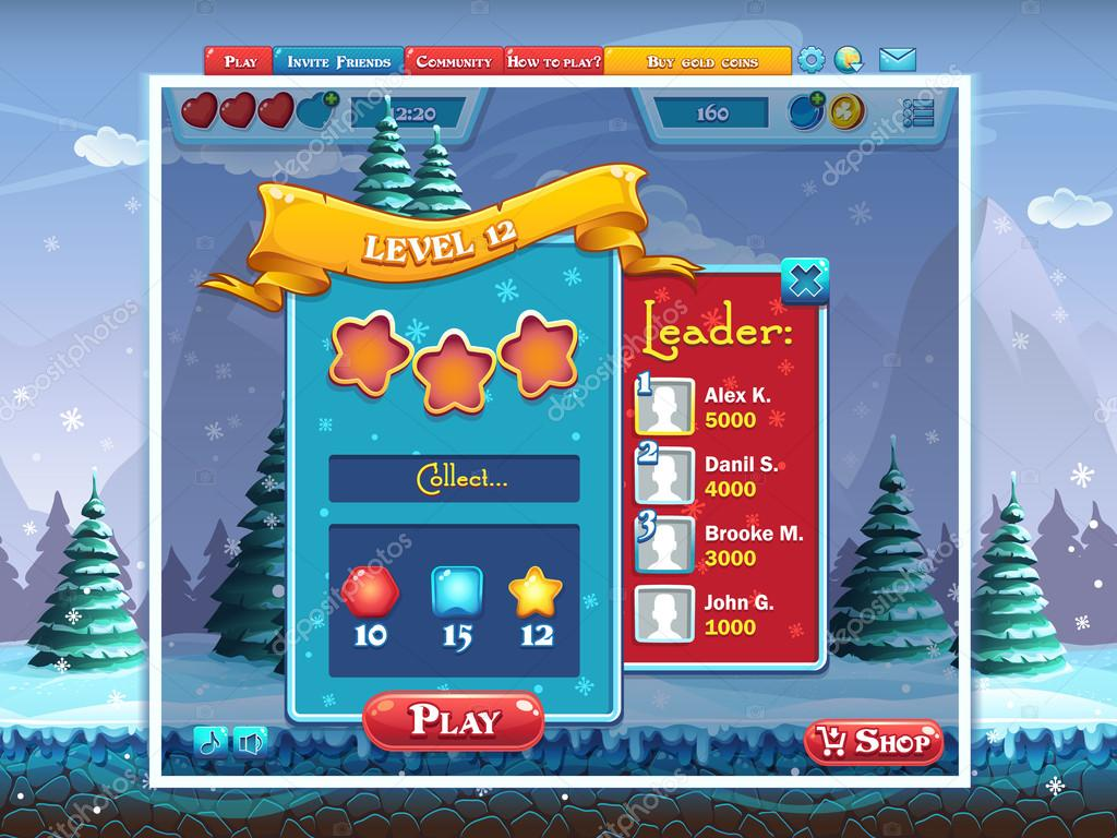Marry Christmas - example tasks perform level computer game