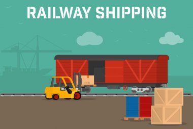 Railway logistic concept transport delivery service