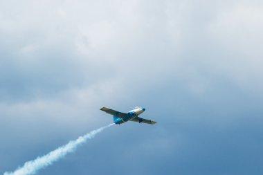 Soaring upward jet plane