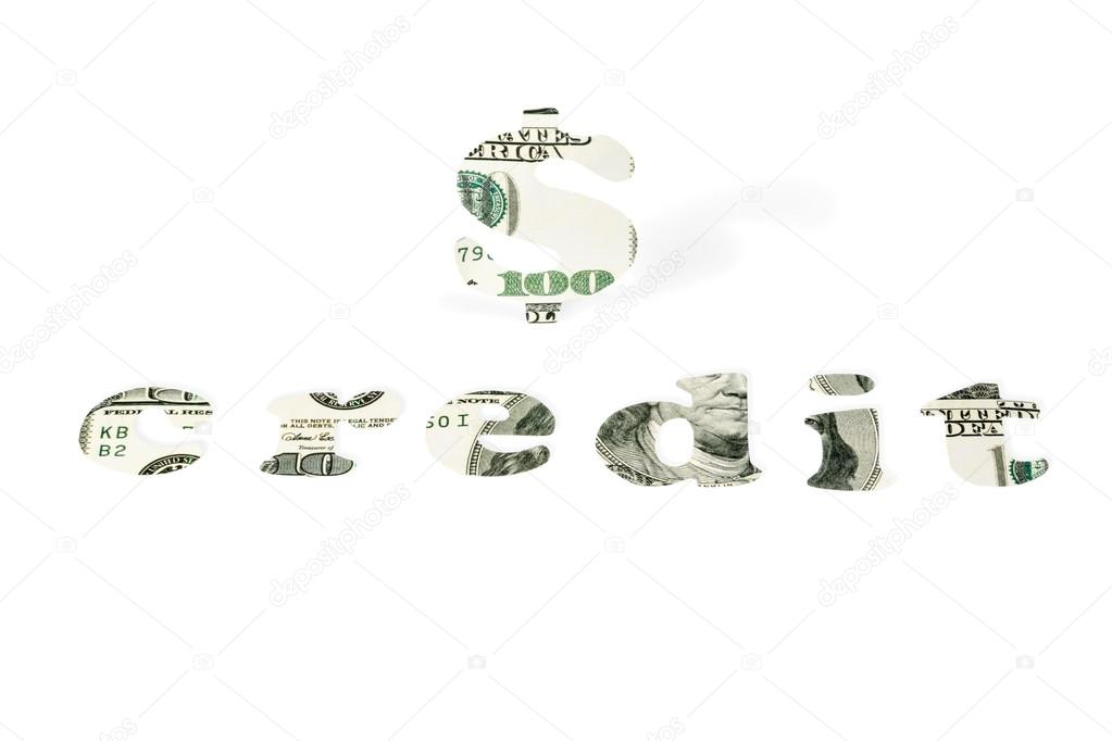 Word Of Credit And The Dollar Sign Stock Photo Grashalex 114125294