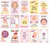 Baby Girl Stepping Stone Cards