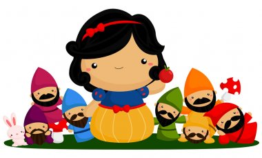 Princess and seven dwarfs