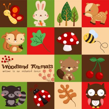 Square Woodland stock vector