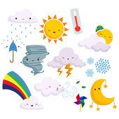 Fotografie Wetter-Vektor-Satz