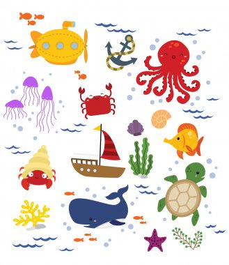 Under The Sea Vector Set