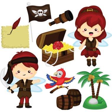 Pirate Fairy Vector Set