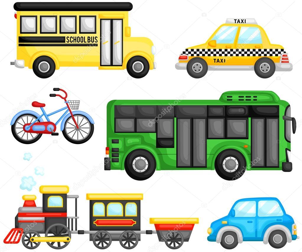 Imágenes Transporte Terrestre Conjunto De Vector De Transporte De