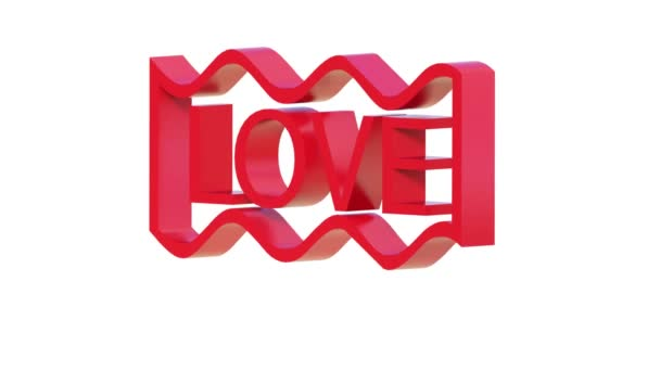 Animation Of Love Word D Render Stock