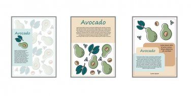 Vector drawn sketch fruit banners set. Eco food.Vector illustration. Dessert menu, perfumery, natural cosmetics, body care products. With space for text icon