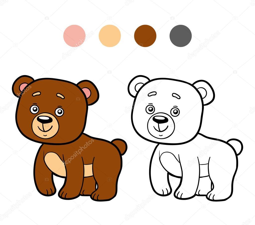 Coloring Book Coloring Page Bear Stock Vector C Ksenya Savva