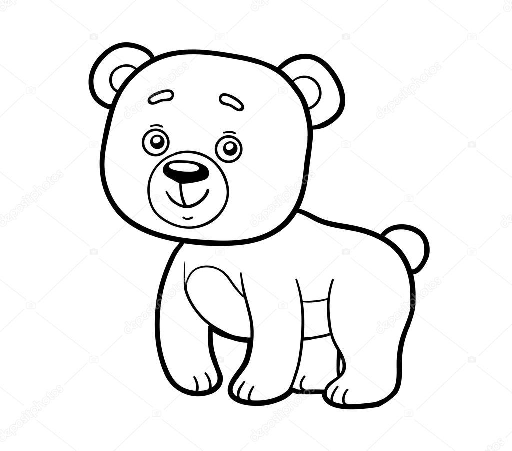 Coloring book, coloring page (bear) — Stock Vector © ksenya_savva ...