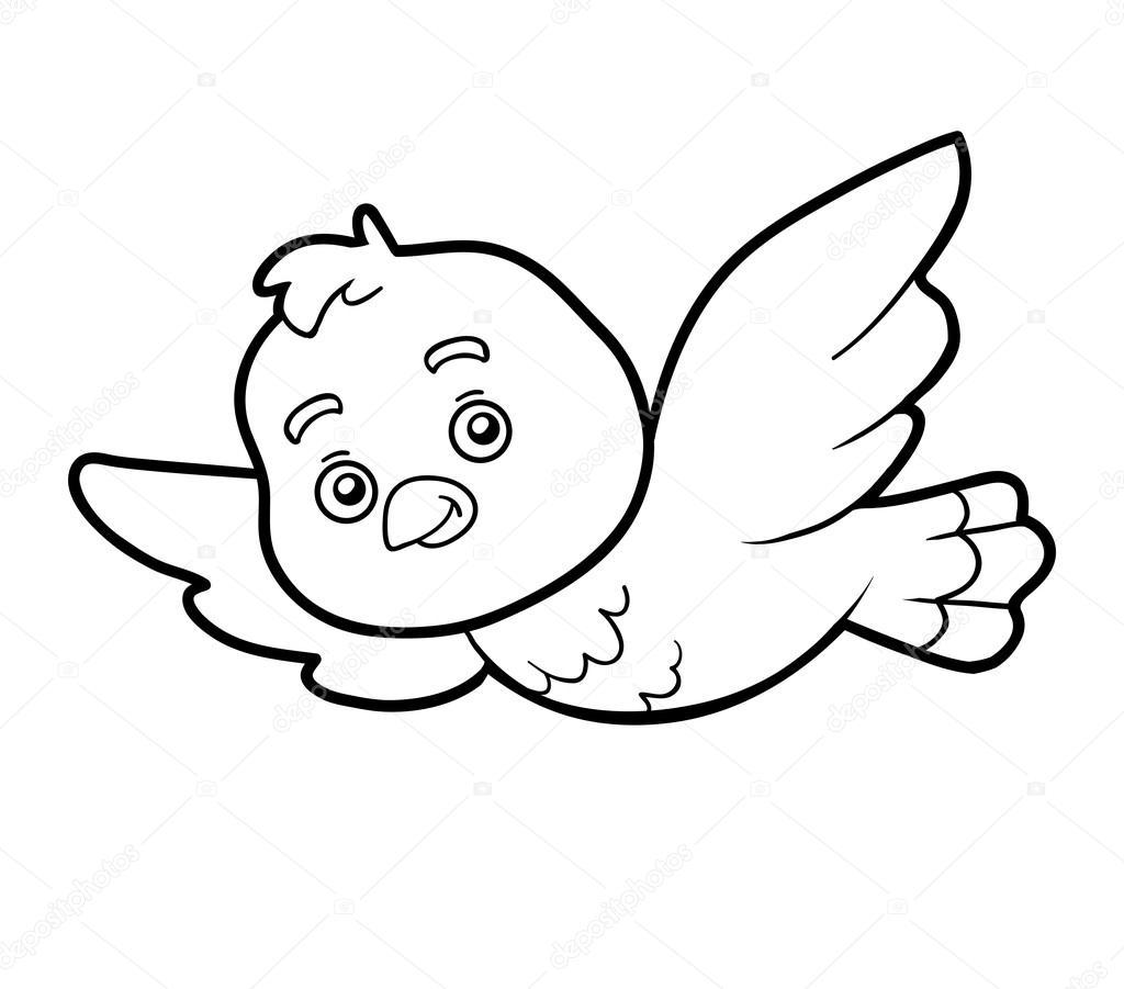 Coloring Book Coloring Page Bird Stock Vector C Ksenya Savva