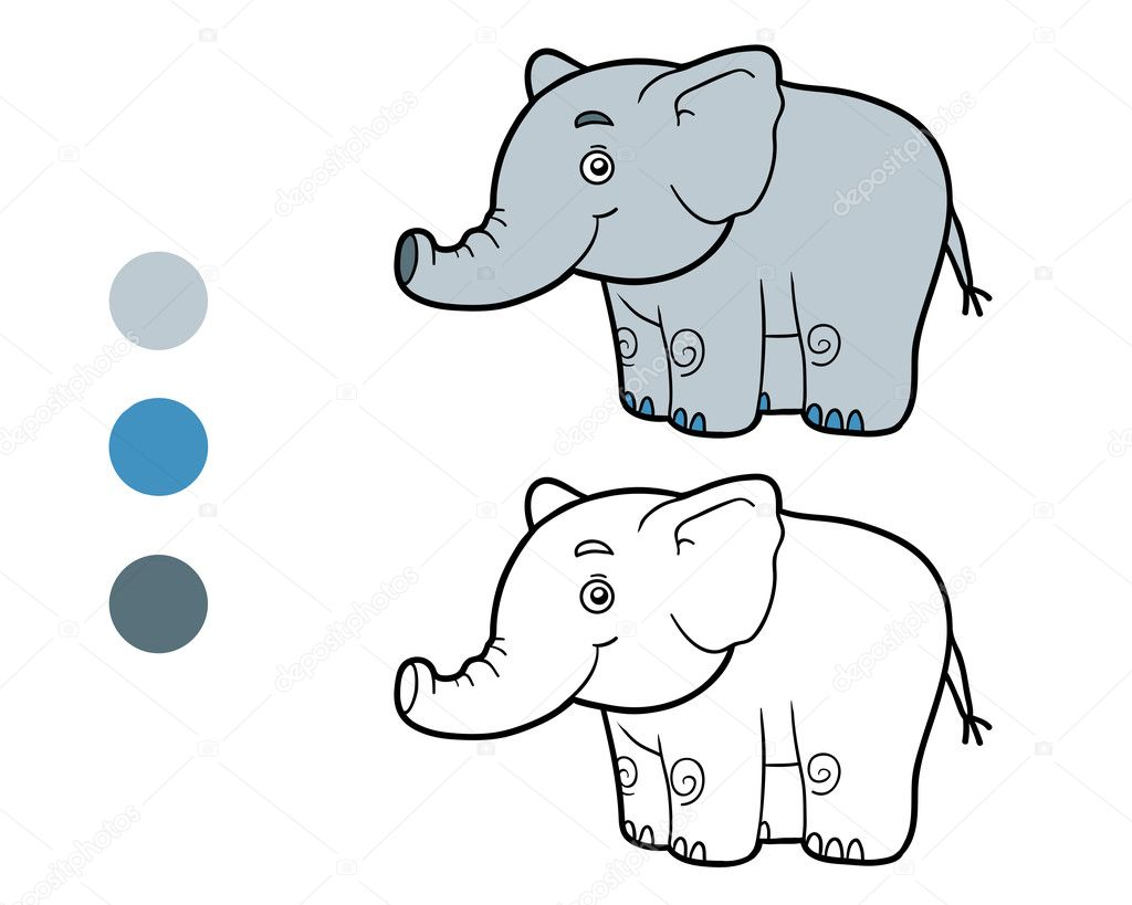 depositphotos stock illustration coloring book coloring page elephant