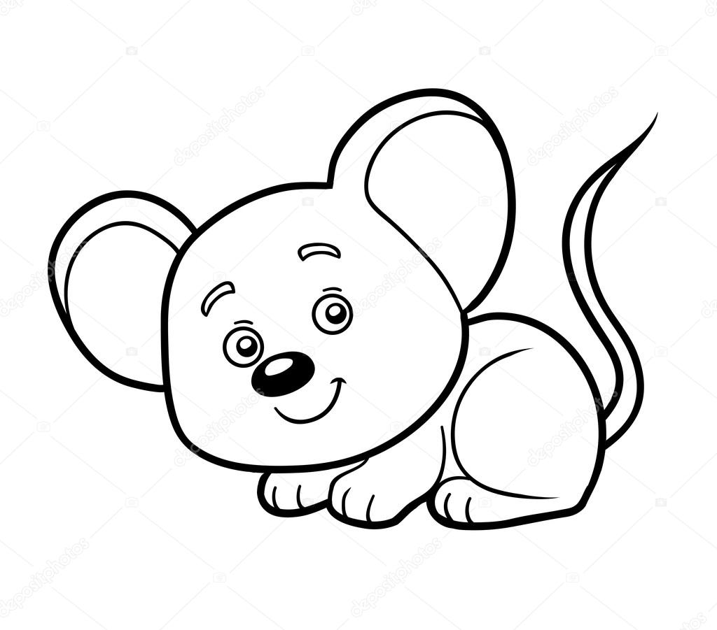 Coloring Book Coloring Page Mouse Stock Vector C Ksenya Savva