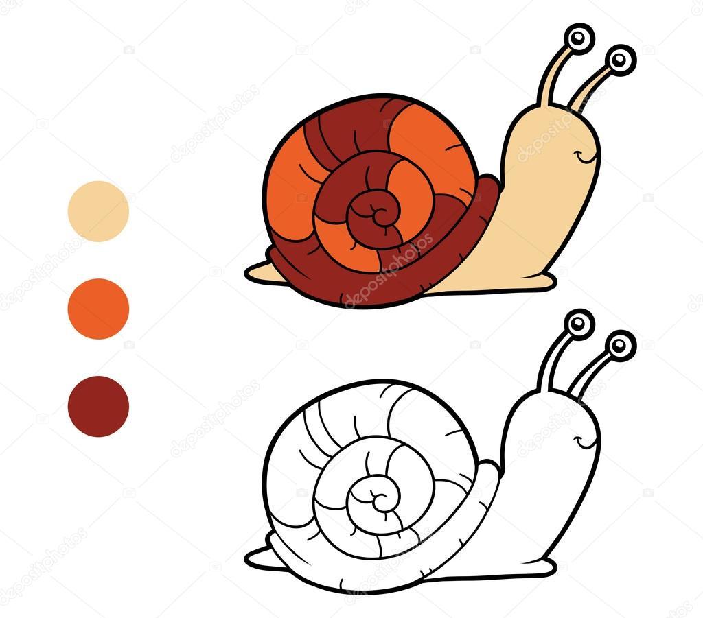 Coloring book, coloring page (snail) — Stock Vector © ksenya_savva ...