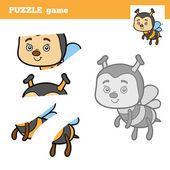 Logická hra pro děti, včela