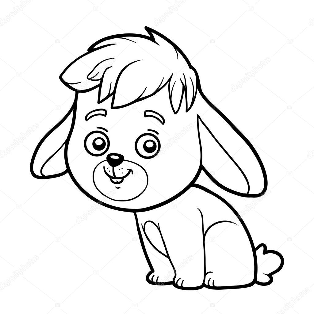 Chilren Küçük Tavşan Boyama Kitabı Stok Vektör Ksenyasavva