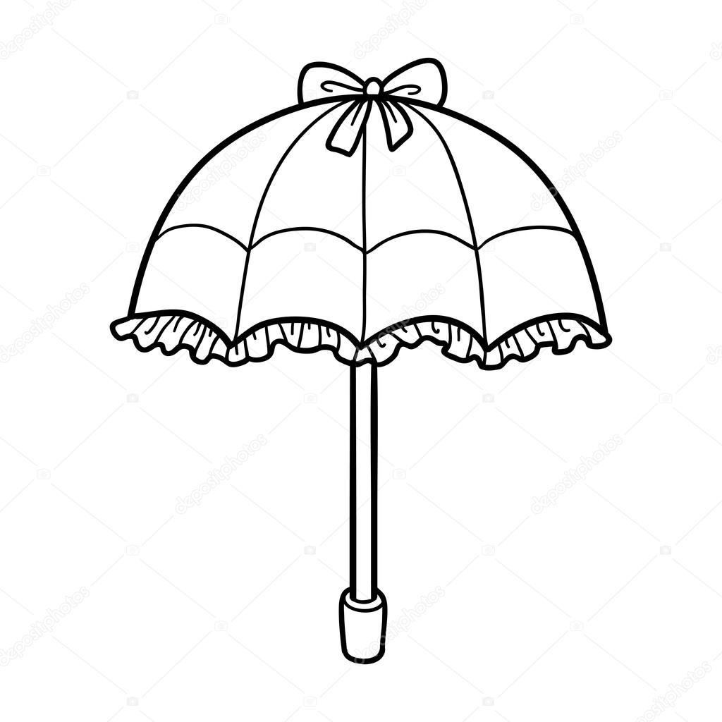 çocuklar Için Boyama Kitabı şemsiye Stok Vektör Ksenyasavva