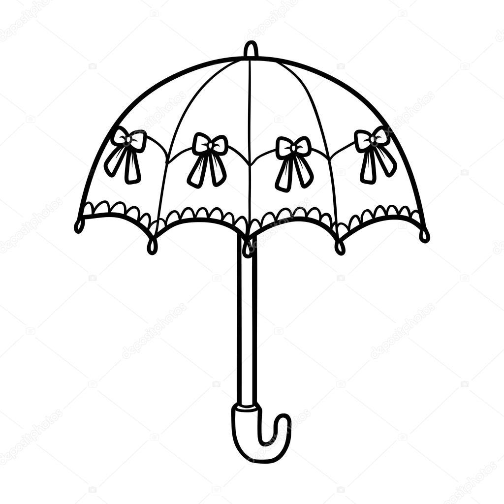 Imágenes: paraguas para colorear | Libro para colorear para niños